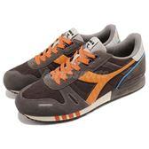 DIADORA 復古慢跑鞋 Titan II 灰 橘 基本款 經典款 拼接設計 運動鞋 男鞋【PUMP306】 DA158623C5576