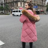 工廠批發價不退換實拍2018冬季新款韓版棉服中長款外套女學生過膝長款棉衣羽絨棉服(F1046)