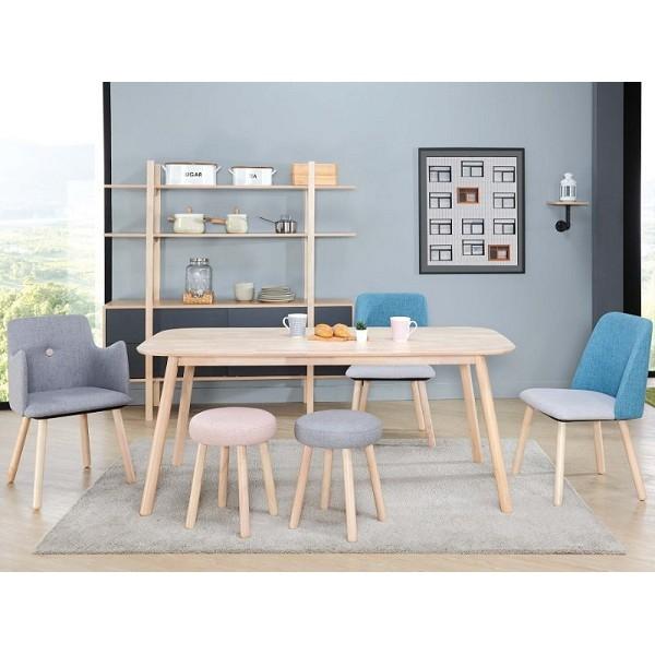 丹麥洗白色餐桌 (不含椅子)