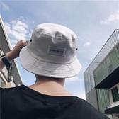 韓版夏季新款男士百搭時尚漁夫盆帽子簡約刺繡貼標遮陽防曬帽潮流