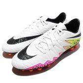 【六折特賣】Nike 足球鞋 Hypervenom Phelon II AG-R Artificial Ground 白 黃 橘 運動鞋 男鞋【PUMP306】 749895-108