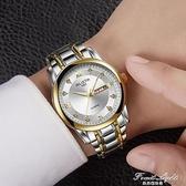 全自動機械錶手錶男士防水夜光雙日歷大錶盤男錶超薄新款 果果輕時尚