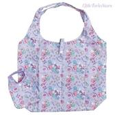 日本限定 三麗鷗 KIKILALA 雙子星 獨角獸可愛繪圖版 折疊收納式 購物袋 / 環保袋 /手提袋 (紫色)
