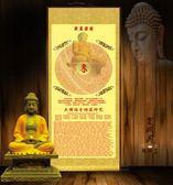 楞嚴咒佛教上乘經文佛門絲綢卷軸掛畫