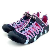 中大童  SKECHER  86734LNVMT  戶外越野  護趾涼鞋  SUMMER SANDALS 《7+1童鞋》 B958藍色
