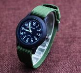 防水帆布手表韓國版石英表