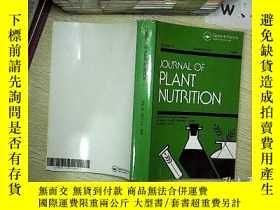 二手書博民逛書店Journal罕見of plant nutrition 植物營養雜誌 2009 4-6Y203004