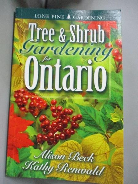 【書寶二手書T9/動植物_CBN】Tree & Shrub Gardening for Ontario_Renwald,