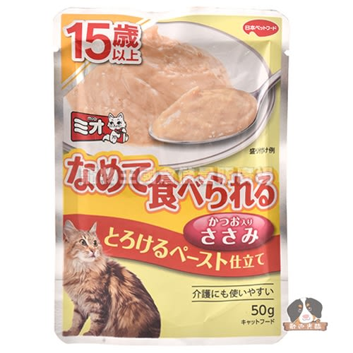 【寵物王國】COMBO PRESENT Mio泥饌15歲高齡貓餐包(綿綿雞肉)口味40g