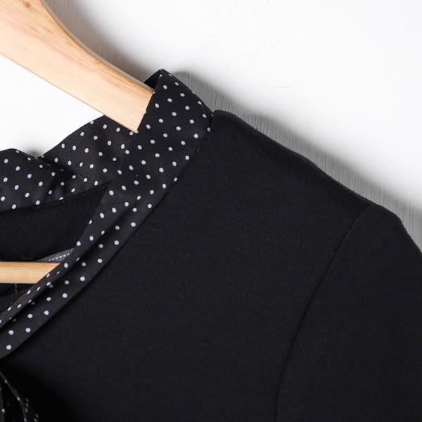【MASTINA】點點領巾魚尾洋裝-黑 好康限時