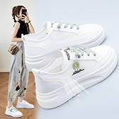小雛菊小白鞋女百搭夏季透氣網面薄款鞋子女2021新款爆款厚底網鞋