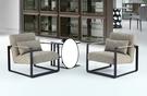 【南洋風休閒傢俱】 休閒椅系列- 美式鐵藝皮休閒沙發椅(IB2089) 洽談沙發 CX606-1
