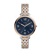 FOSSIL 雙色錶帶不銹鋼女士錶 ES4925