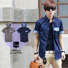 ∥柒零年代∥Man Season【N7937J】韓系型男品味個性視覺變形蟲圖騰拼接連帽襯衫外套(EZ6011)