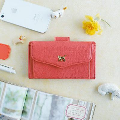 Jetoy,choo choo甜蜜貓 iPhone 6 萬用皮夾手機包(iPhone 5 6 6S SE) _Orange pink