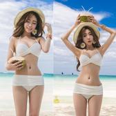 比基尼泳衣韓國比基尼泳衣女鋼托聚攏大小胸黑白色性感 溫泉維多【快速出貨】