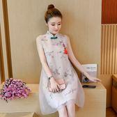 實拍新款女裝民族風洋裝中國風旗袍改良唐裝中式長裙子夏季 初語生活