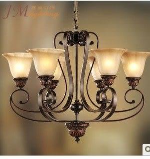 設計師美術精品館吊燈歐式燈具客廳燈臥室燈餐廳吊燈書房燈鐵藝燈復古燈正品促銷