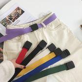 皮帶-軍訓腰帶男帆布皮帶簡約青年學生自動平滑扣女塑料戶外尼龍褲帶