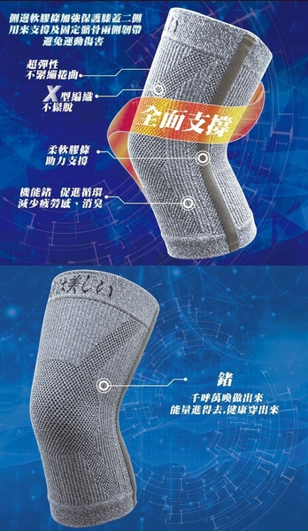 升級版[鍺護膝] 京美長效支撐X型舒緩護膝超值組(雙腿x2雙)