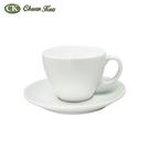 原點居家創意 白色陶瓷咖啡杯盤組 馬克杯盤 陶瓷馬克杯盤