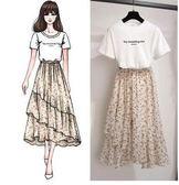 特賣款不退換原創實拍女神配套S-XL/32130/夏季連衣裙韓版新款半身裙 T恤套裝1號公館