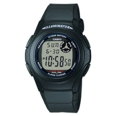 CASIO 能量百分百數位電子錶-黑(F-200W-1A)