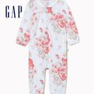 Gap 嬰兒 清新花卉印花長袖包屁褲 5...