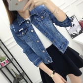 牛仔外套 牛仔外套女春秋季短款寬鬆顯瘦韓版bf學生修身夾克上衣長袖小外套
