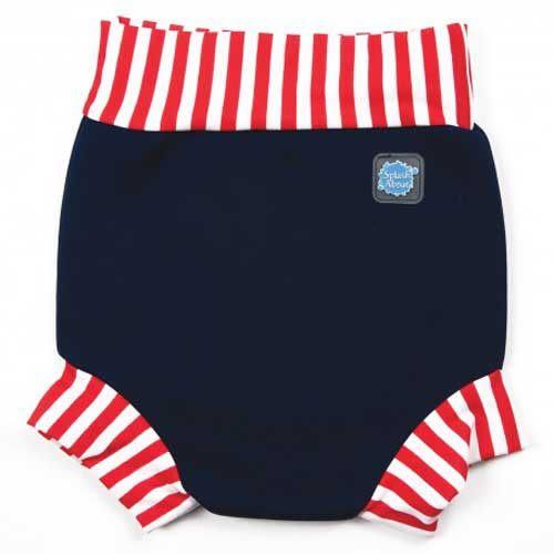 英國 Splash About 潑寶 Happy Nappy 游泳尿布褲/泳褲-海軍藍紅白條紋(L/XL/XXL)