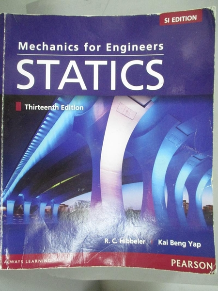 【書寶二手書T8/大學理工醫_YJV】Mechanics For Engineers: Statics_Russell