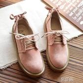布洛克鞋18ins超火的鞋子chic小皮鞋女學生韓版百搭ulzzang蝴蝶結單鞋   艾維朵