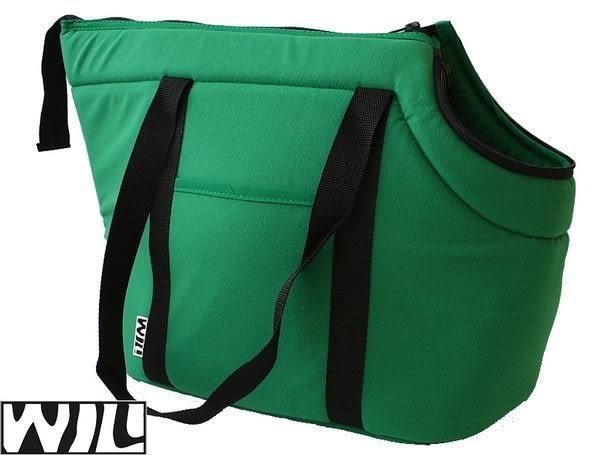 WILL設計+寵物用品*秋冬超人氣暖暖全刷毛布肩揹袋 XL*棕野綠