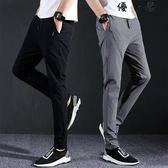 黑色休閒褲男士春夏季寬鬆薄款運動褲