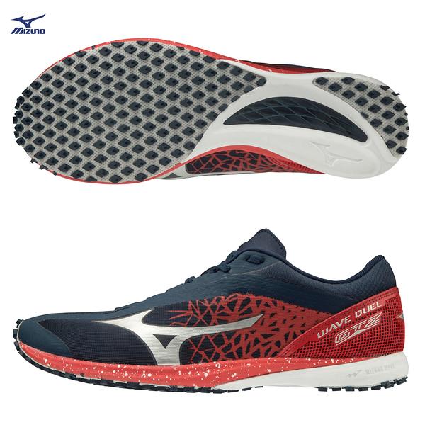 MIZUNO WAVE DUEL GTZ 男鞋 女鞋 慢跑 路跑 馬拉松 耐磨 輕量 藍 紅【運動世界】U1GD195018