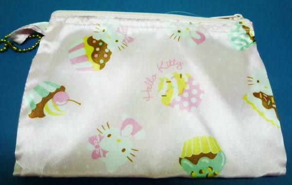 【震撼精品百貨】Hello Kitty 凱蒂貓~環保購物手提袋『粉底緞面甜點』
