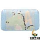 嬰兒枕頭冰絲涼枕溫和涼感寶寶兒童枕頭夏季透氣卡通枕小鱷魚【創世紀生活館】