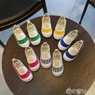 秋季兒童帆布鞋女童鞋子一腳蹬寶寶布鞋正韓幼兒園小白鞋軟底 【618特惠】