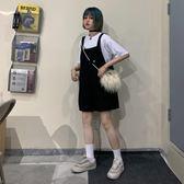 夏季韓國ulzzang原宿風百搭復古背帶褲寬鬆休閒學生闊腿褲短褲女 ciyo黛雅