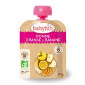 法國Babybio 有 機蘋果香橙香蕉纖果泥 隨行包90g[衛立兒生活館]