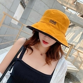 漂亮小媽咪 韓系 質感 雙色帽 漁夫帽【BW0410】 遮陽帽 女性 成人 防曬 大帽檐 []
