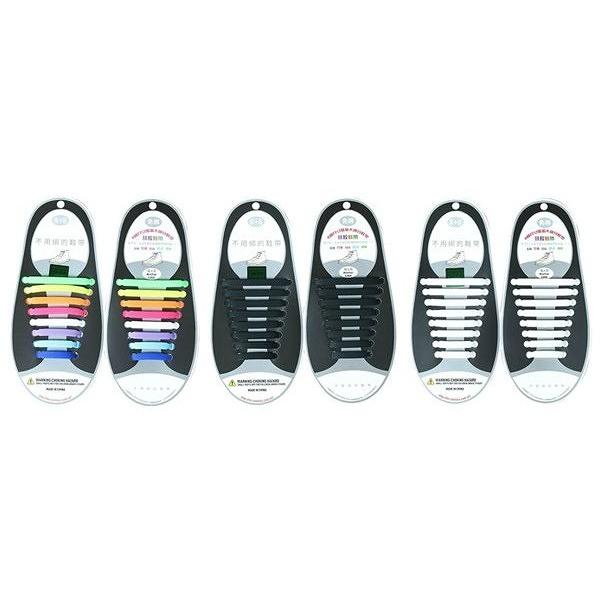 創意百搭矽膠彈力懶人鞋帶(1雙入) 款式可選 成人款【小三美日】