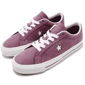 Converse One Star Pro 紫 白 星星 皮革鞋面 滑板鞋 休閒鞋 低筒 男鞋 女鞋【PUMP306】 160536C