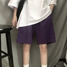 五分褲 運動褲短褲女夏季高腰百搭寬鬆顯瘦休閒bf闊腿五分褲子ins潮高街 寶貝