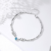 一鹿有你925純銀手鍊女韓版簡手鐲生日禮物