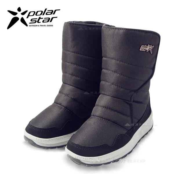 PolarStar 兒童 防潑水 保暖雪鞋│雪靴『黑』 268533 (內厚鋪毛/ 防滑鞋底) 雪地靴.雪地必備.保暖.抗寒