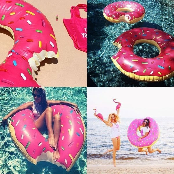 甜甜圈 游泳圈 泳圈 海邊度假比基尼 NXS