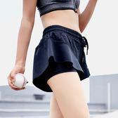 休閒運動短褲 夏季新款女寬鬆速干防走光健身褲裙瑜伽訓練跑步短褲透氣 優帛良衣