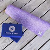 Fun Sport 艾朵菈棉麻瑜珈鋪巾墊+快樂靈藥瑜珈磚*2塊-超值組-瑜珈墊/瑜伽薄墊/瑜伽墊