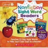 【科普類: 最佳字彙學習書】NONFICTION SIGHT WORD READER: LEVEL D /25書+CD